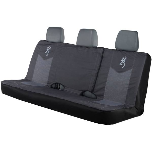 Chevron Heather Black Full Bench Seat Cover