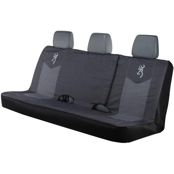 Chevron Heather Black Full Bench Seat Cover