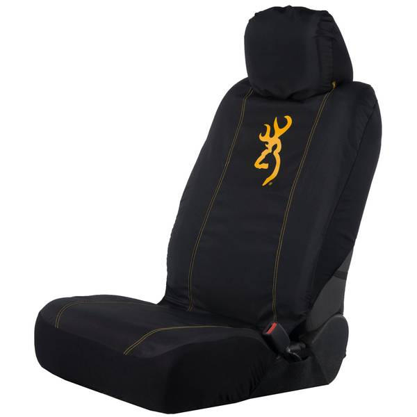 Classk Black and Gold Low Back Seat Cover