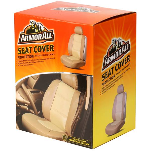 Performance Tan Sideless Seat Cover