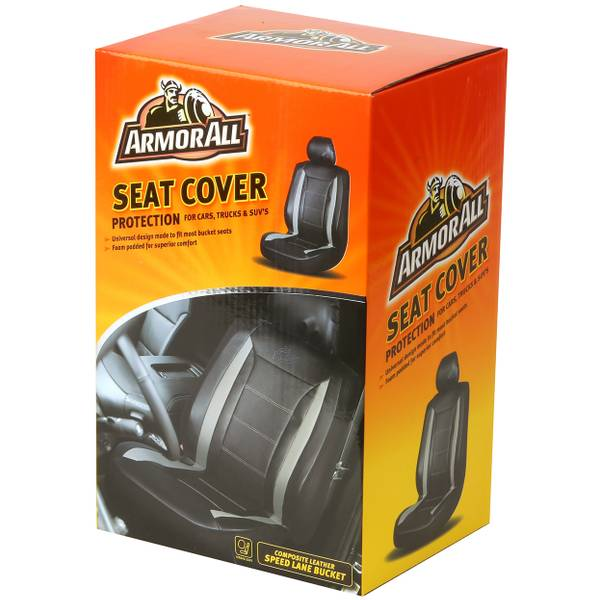 Speed Lane Black Universal Bucket Seat Cover