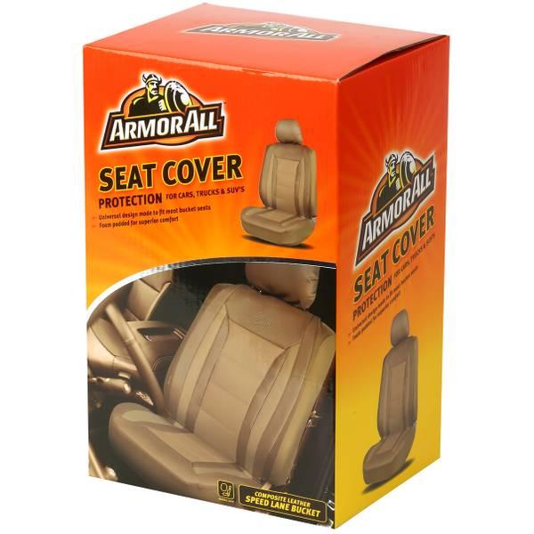 Speed Lane Tan Universal Bucket Seat Cover