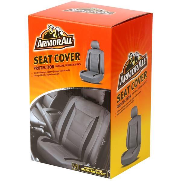 Speed Lane Grey Universal Bucket Seat Cover