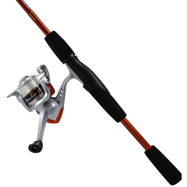 6' Graphite Orange and Silver Steeler XP Spinning Combo