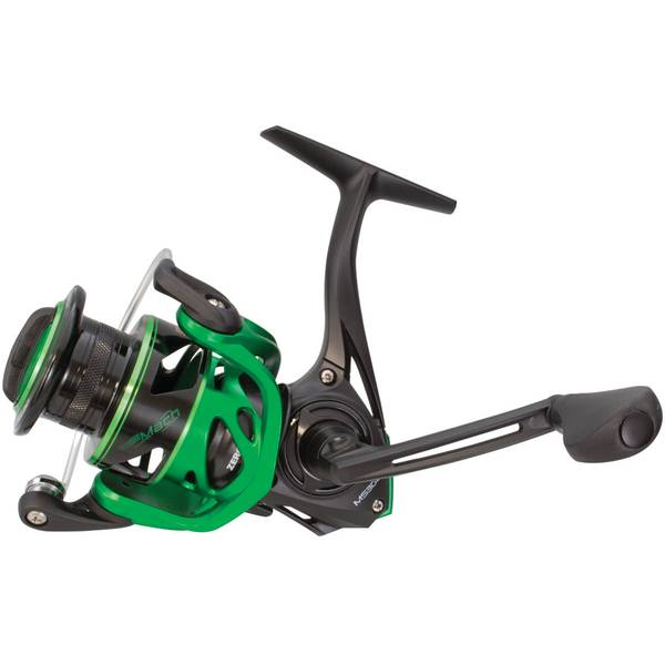 Black and Green Mach Speed 100 Speed Spinning Reel