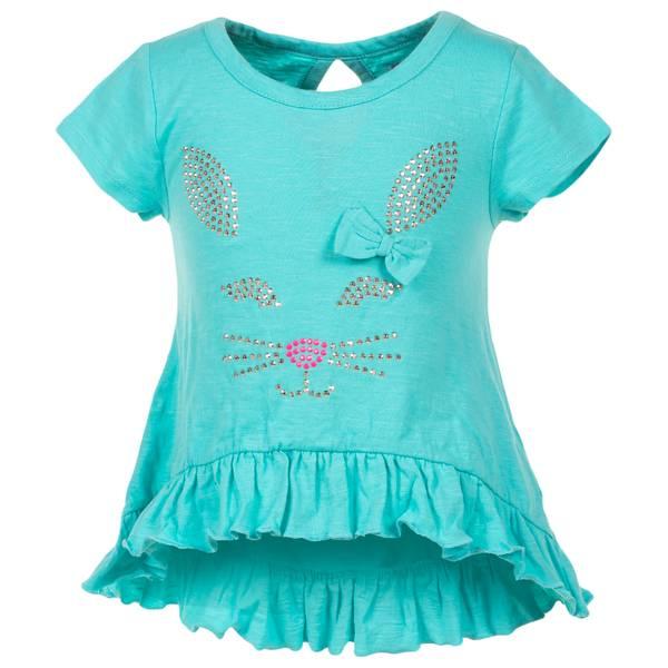 Girls' Short Sleeve Knit Studded Top