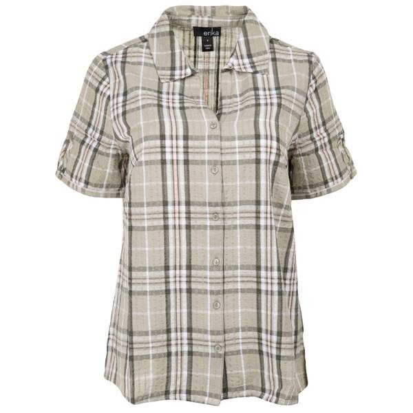 L MS S/S Enchanted Plaid Olive