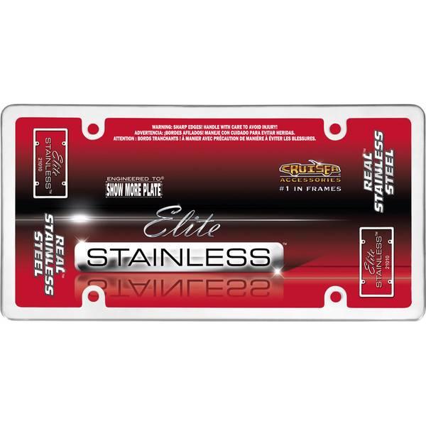 Stainless Steel Elite Stainless License Plater Holder