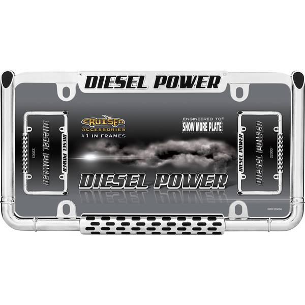 Chrome Diesel Power License Plater Holder