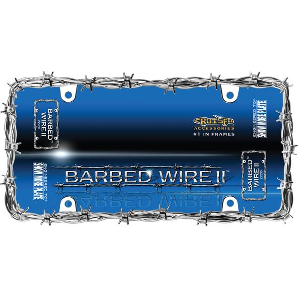 Chrome Barbed Wire II License Plater Holder