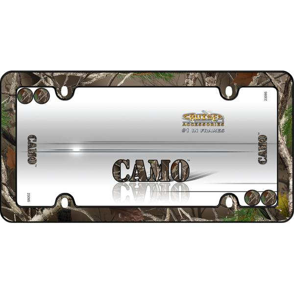 Camo Black with Fastener Caps License Plater Holder