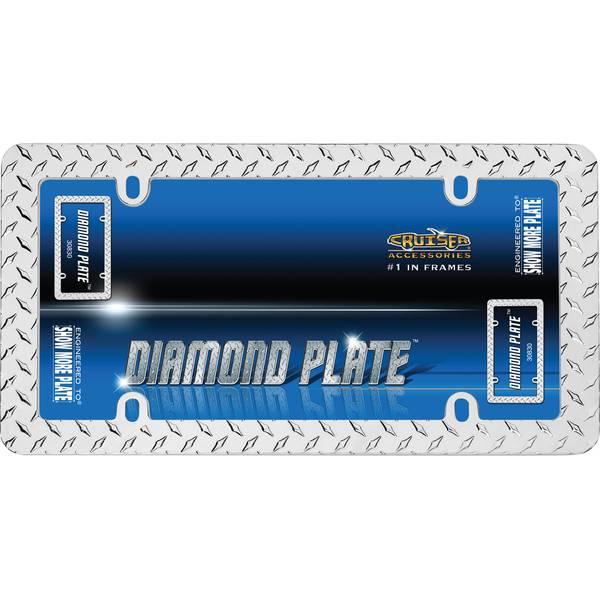 Chrome Diamond Plate License Plater Holder
