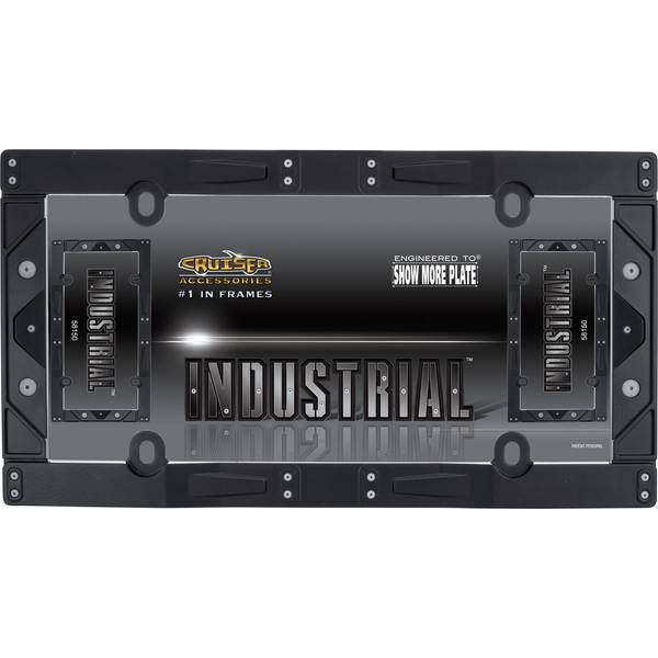 Matte Black Industrial License Plater Holder