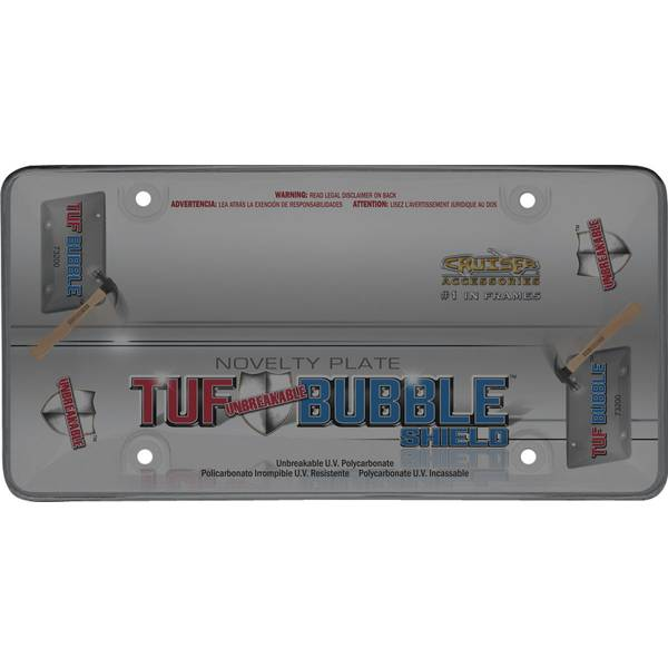 Smoke Tuf Bubble Shield License Plater Holder