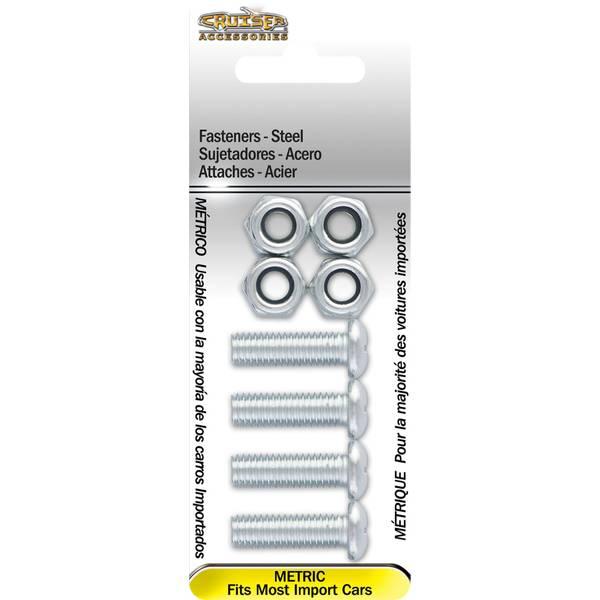 Metric-Steel Cruiser Accessories 80330 License Plate Frame Fasteners