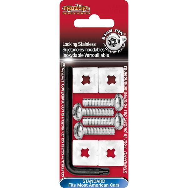 Stainless Star Pin Locking License Plate Fasteners