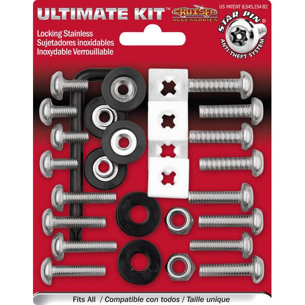 Ultimate Kit Stainless Star Pin  License Plate Locking Fasteners