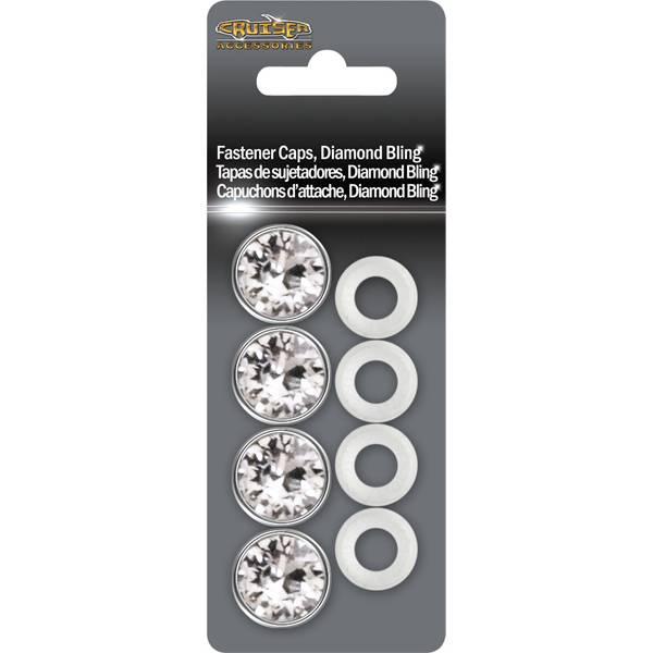 Diamond Bling  Fastener  License Plate Caps