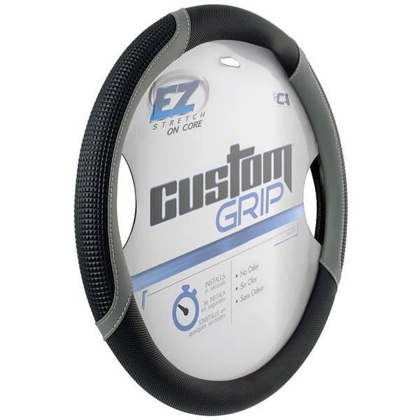 EZ Stretch Custom Grip Black & Grey Super Sport Steering Wheel Cover