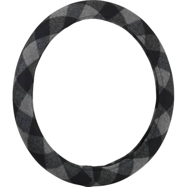 Plaid Grey Steering Wheel Cover