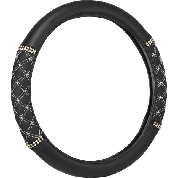 Quilted Bling Steering Wheel Cover