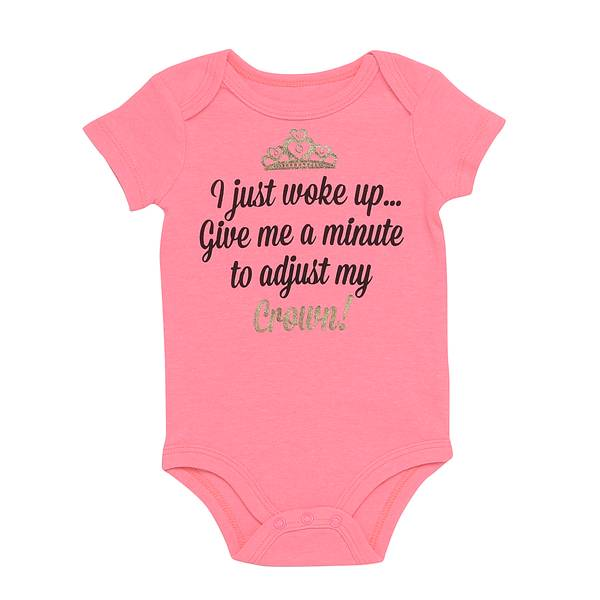 Baby Girls' Pink I Just Woke Up Bodysuit