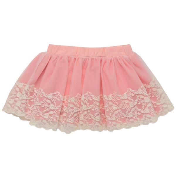 Little Girls' Light Pink Tulle Overlay Skort