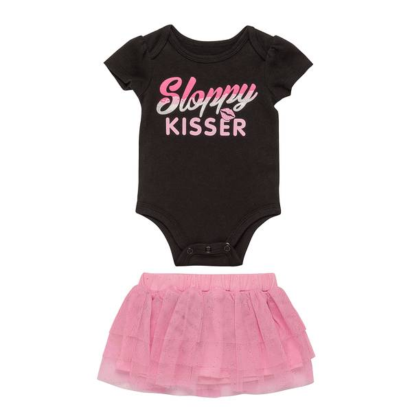 Baby Girls' Black 2-Piece Sloppy Kier Set