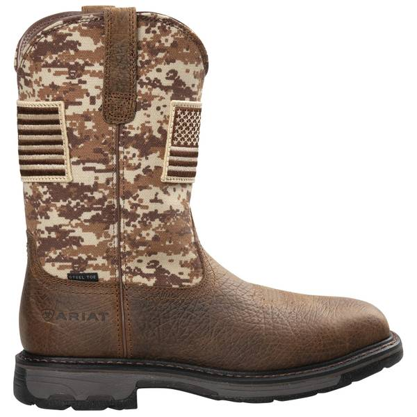 ARIAT Men's Brown Workhog Patriot Steel