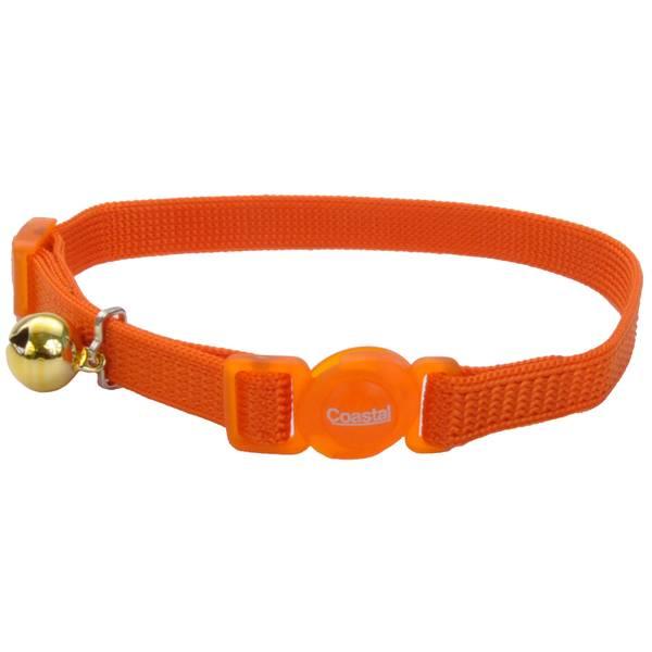 """3/8"""" x 8-12"""" Orange Cat Collar"""
