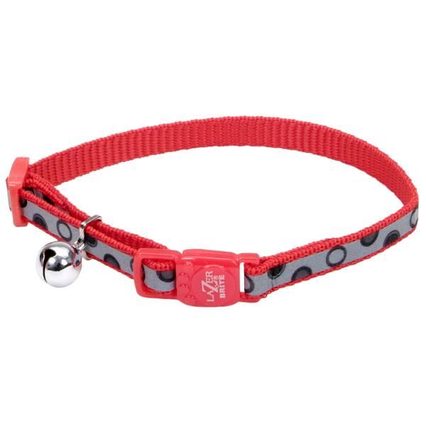 """3/8"""" x 8-12"""" Lazer Brite Red Bubbles Collar"""