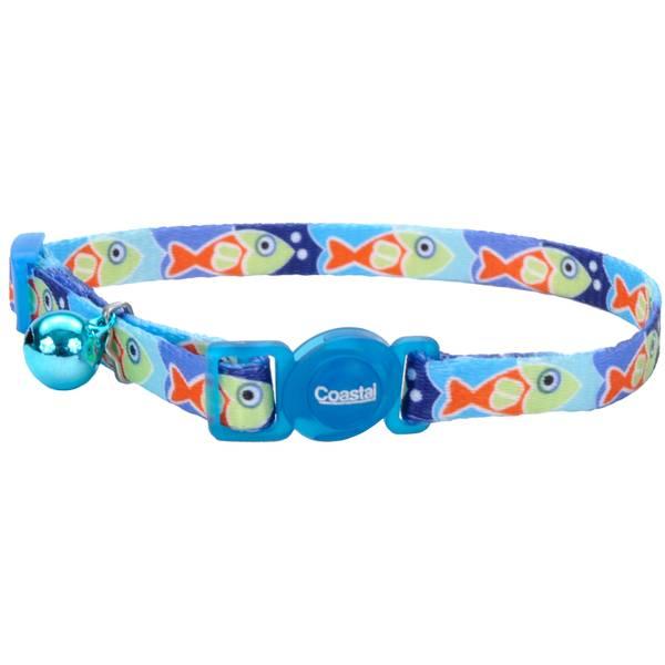 "3/8"" x 8-12"" Blue Fish Cat Collar"