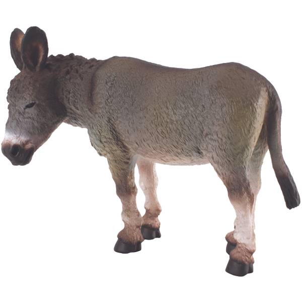 CollectA Standing Grey Donkey Kid Figurine