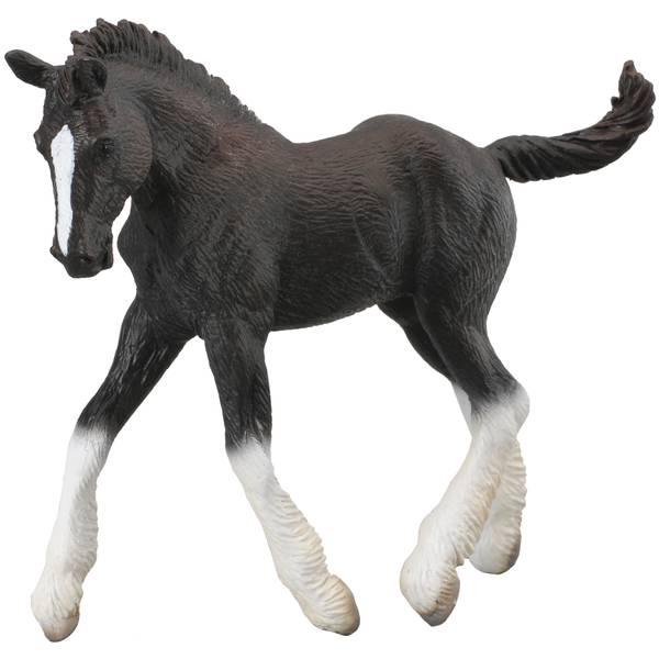 CollectA Prancing Black Shire Foal Kid Figurine