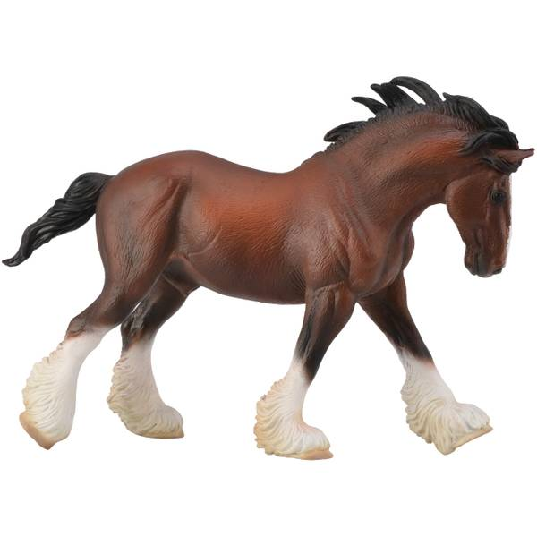 CollectA Prancing Bay Clydesdale Stallion Kid Figurine