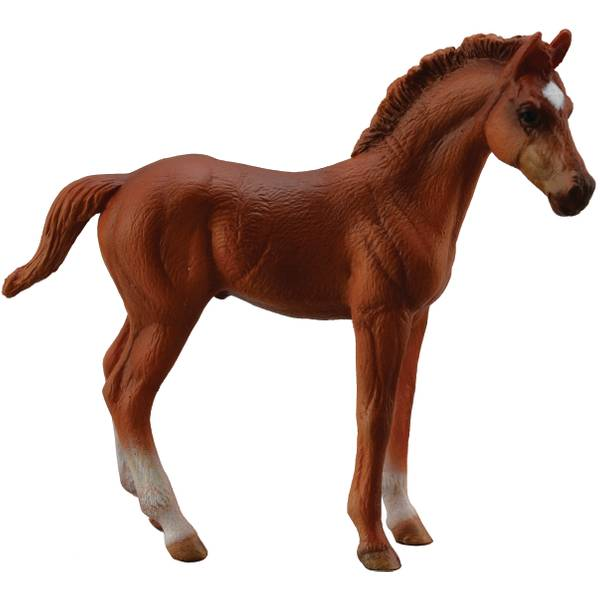 CollectA Standing Chestnut Thoroughbred Horse Kid Figurine