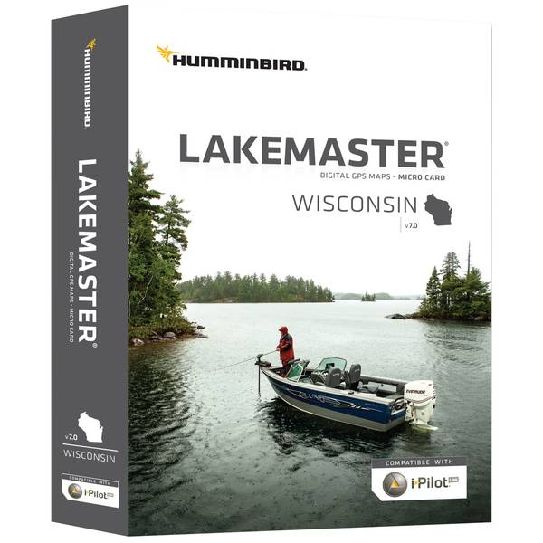 LakeMaster Wisconsin Micro Map Card on maps for hp, maps for magellan, maps for tomtom, maps for garmin,