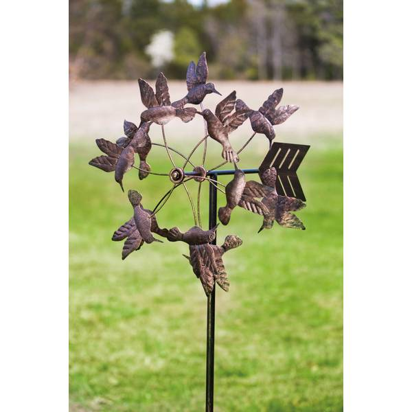 Evergreen Enterprises Antique Bronze Floating Hummingbirds Kinetic ...