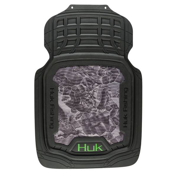 2-Piece Freshwater Cell Gray and Green Front Floor Mats