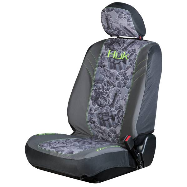 2-Piece Freshwater Cell Grey and Green Low Back Seat Covers