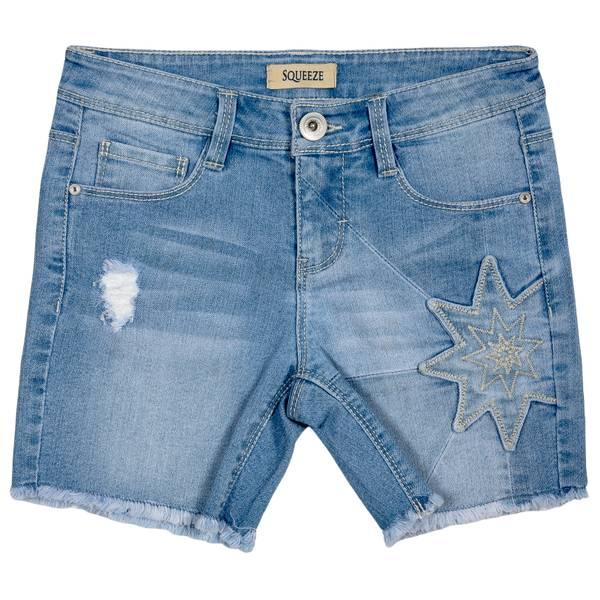 Big Girls' Light Elise Patchwork Star Shorts
