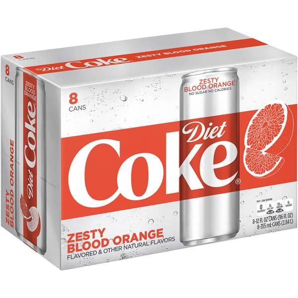 8-Pack 12 oz Blood Orange Diet Coke