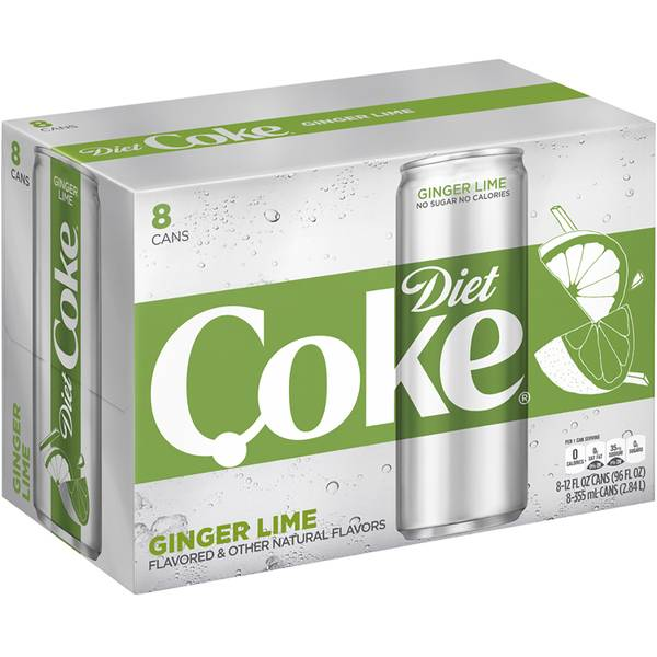 8-Pack 12 oz Ginger Lime Diet Coke