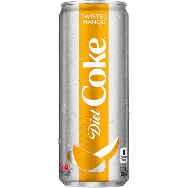 12 oz Twisted Mango Diet Coke Can