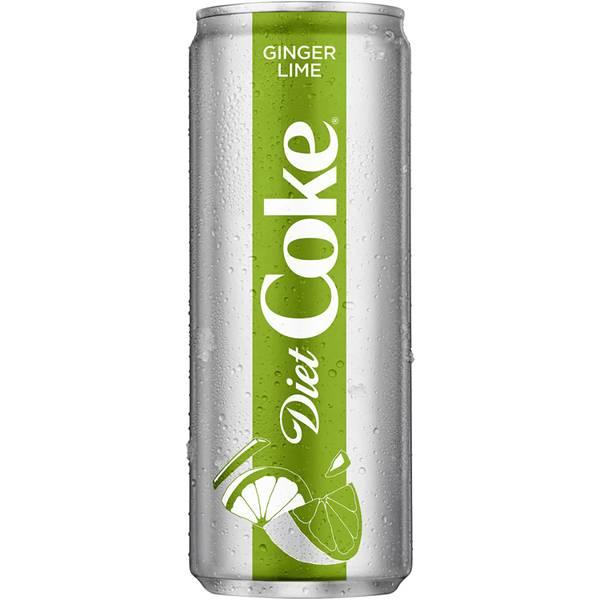 12 oz Ginger Lime Diet Coke Can