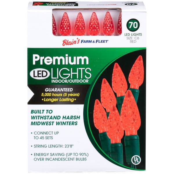 C6 70L Red F&F LED Light Set