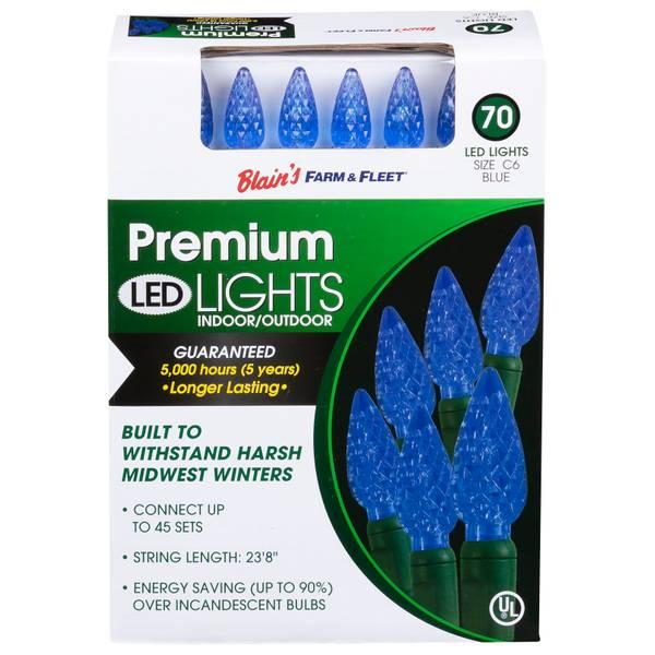 C6 70L Blue F&F LED Light Set