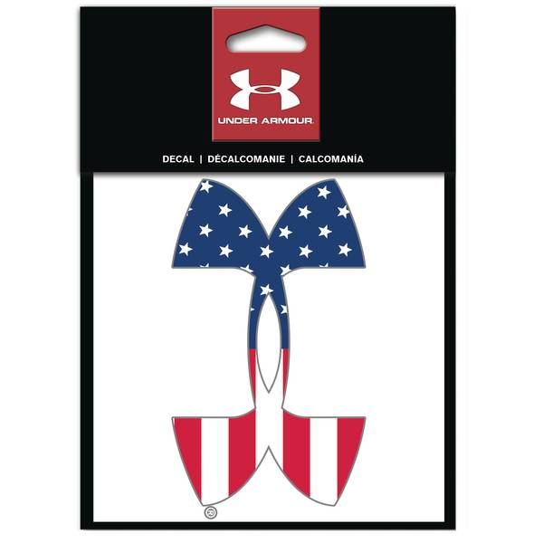 """6"""" Under Armour American Flag Decal"""