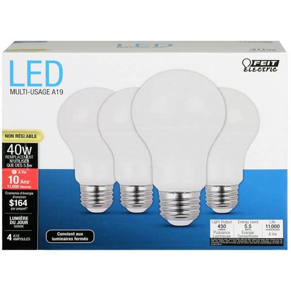 4-Pack 40 Watt  NonDimmable LED