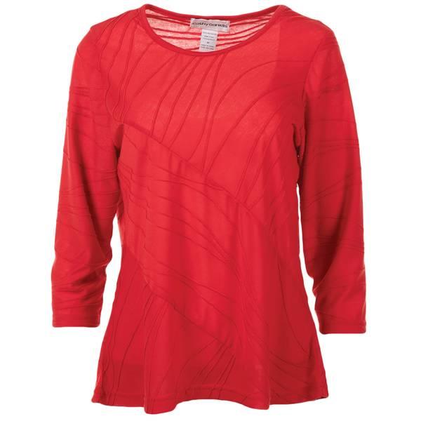 Misses 3/4 Sleeve Scoop Neck Tunic